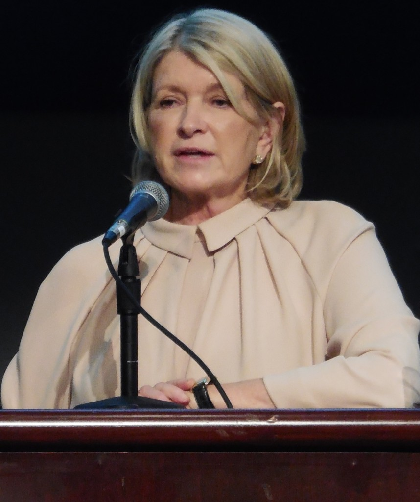 Martha Stewart as guest speaker at The Delacourte Lecture at Columbia University's Graduate School of Journalism on May 8, 2014