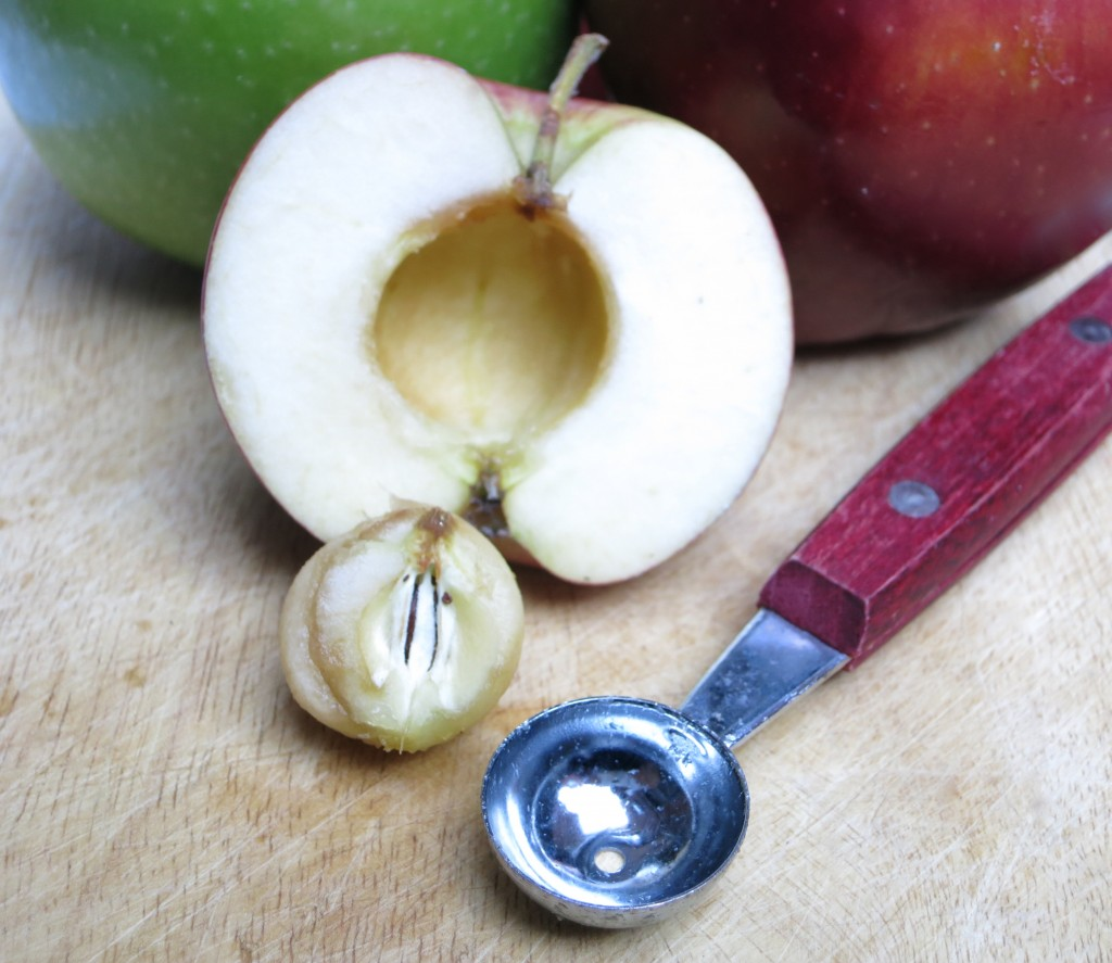 Using a melon baller to core apples is fast and easy! Try it and share your findings.